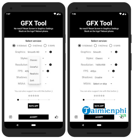 Download GFX Tool cho Android - Hỗ trợ chơi game PUBG Mobile