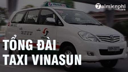 tong dai taxi vinasun sdt hotline