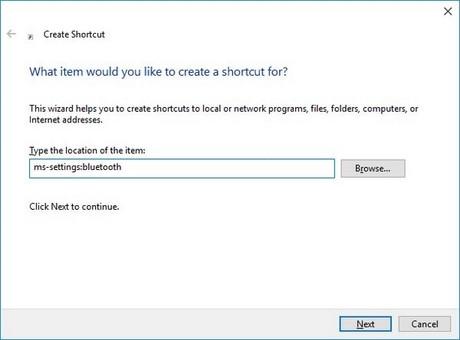 tao shortcut settings win 10