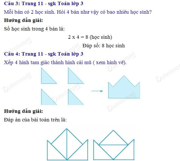 giai toan 3 trang 10 sgk luyen tap 2