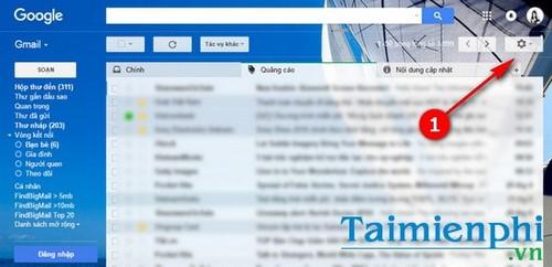dat hop thu inbox dang the tab trong gmail tren may tinh