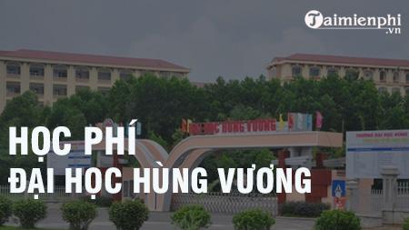 hoc phi dai hoc hung vuong