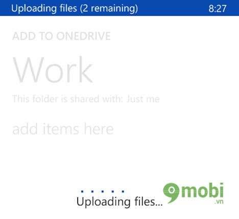 đồng bộ hình và video lên Onedrive từ windows phone