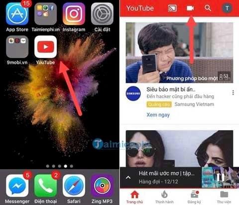 huong dan phat video truc tiep youtube tren iphone 2
