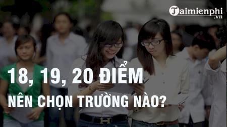 duoc 18 19 20 diem khoi d nen chon hoc truong gi nganh nao tot tu van chon truong dai hoc cao dang nam 2017