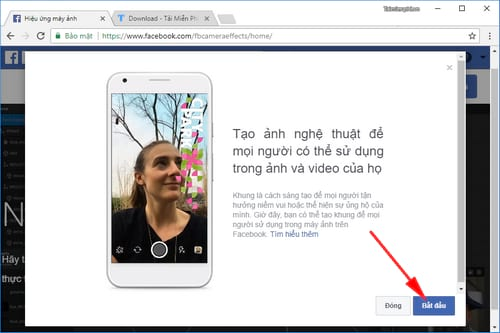 cach tao khung hinh avatar tren facebook kem hieu ung 2