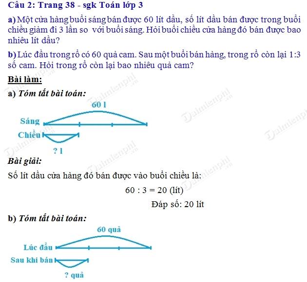 giai toan 3 trang 38 sgk luyen tap 2