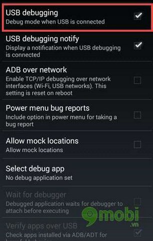 che do debugging tren android 4.4