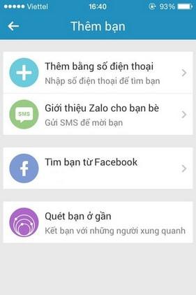 Add you on Zalo, add friends on iPhone Zalo