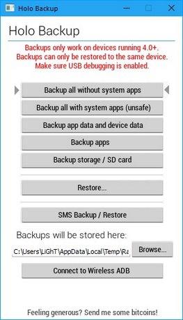 huong dan backup android khong can root