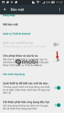 kich hoat Android Device Manager