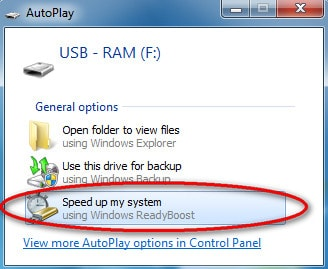 Biến USB thành bộ nhớ RAM trong máy tính
