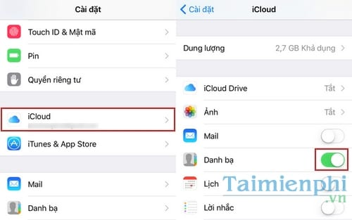 cac buoc dong bo hoa danh ba tu iphone ipad len gmail 2