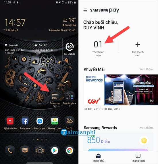 cach add the ngan hang vao samsung pay tren galaxy note 9 2