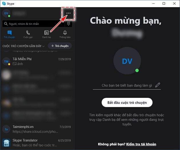 cach bat tat mo cua so chat rieng le tren skype che do xem tach split view mode 2