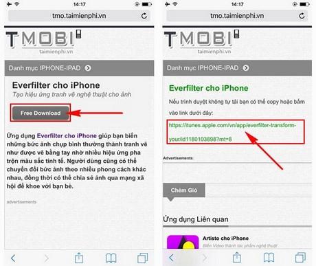 huong dan cai everfilter tren iphone