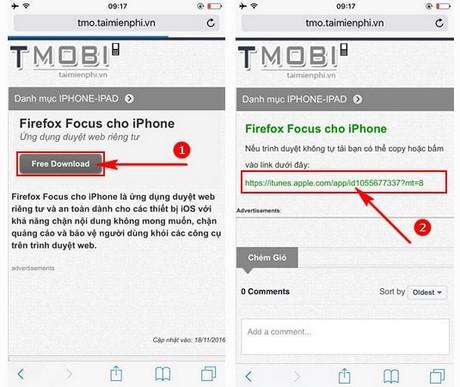 cai firefox focus tren iphone