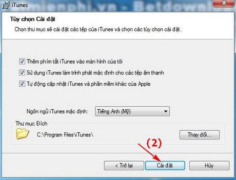 cach cai iTunes