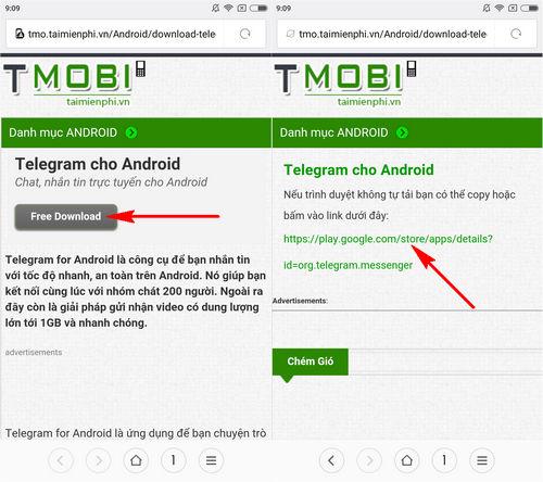 cach cai telegram cho dien thoai iphone android 2