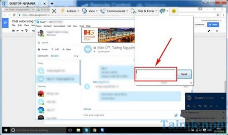 chat trong teamviewer