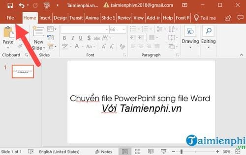 cach chuyen file powerpoint sang file word 2