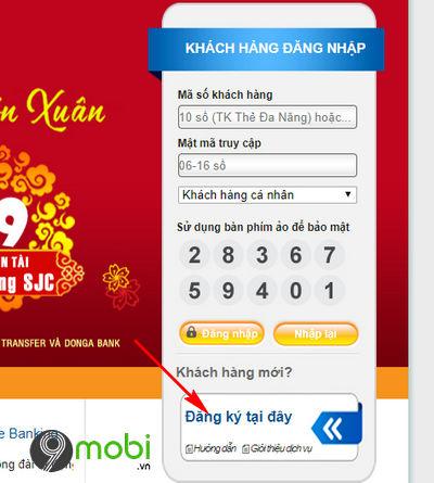cach dang ky internet banking donga bank tren dien thoai 2
