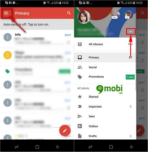 cach dang nhap gmail tren samsung s8 2
