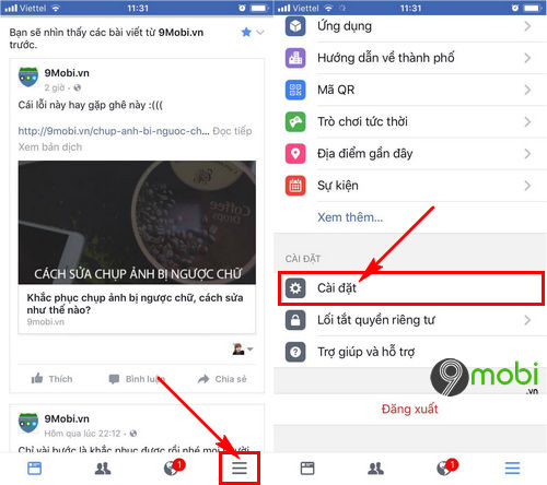 cach dang xuat facebook messenger tren iphone 6 6 plus 6s 6s plus 2