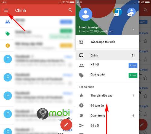 cach doi so dien thoai gmail trong app gmail tren di dong 2