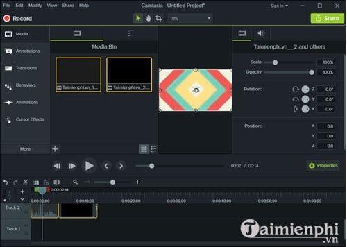 cach dong dau videos bang camtasia studio chen watermark 2
