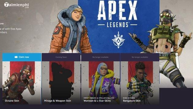 cach nhan mien phi skin whiplash octane trong apex legends 2