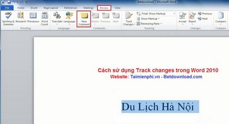 how to make comments in track changes