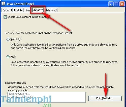 cach sua loi application blocked by java security khi ke khai thue qua mang 2