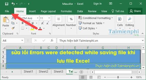 cach sua loi errors were detected while saving file khi luu file excel 2