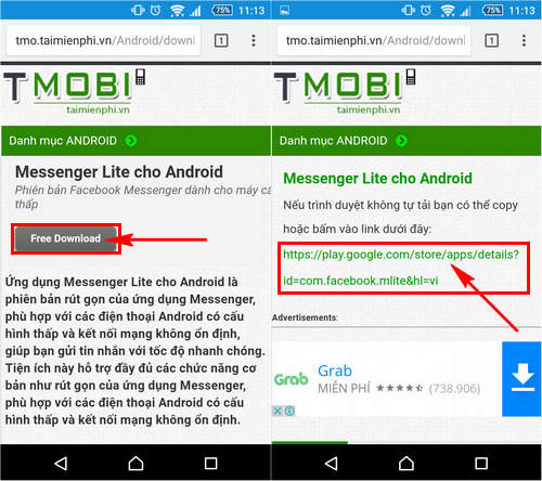 cach tai cai facebook messenger lite tren android 2