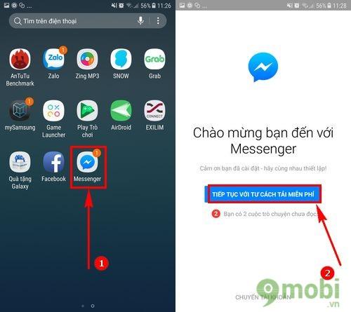 Cách tải và cài Facebook Messenger cho Samsung J7 Pro