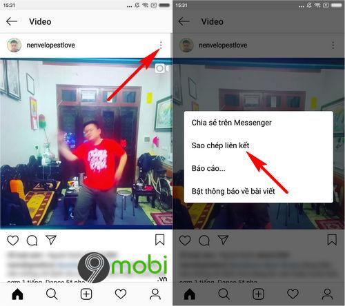 cach tai video tu instagram tren iphone android 2