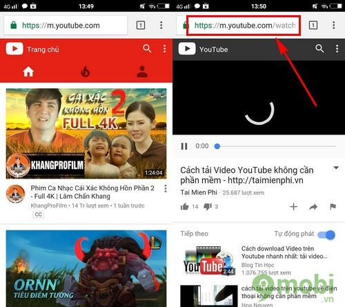 cach tai video youtube ve dien thoai android 2