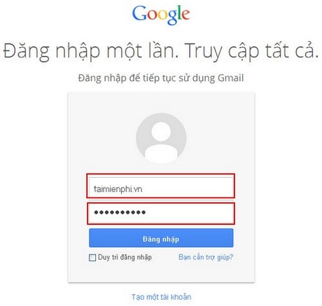 doi mat khau gmail