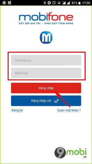 Cách thêm thông tin thuê bao Mobi bằng My MobiFone