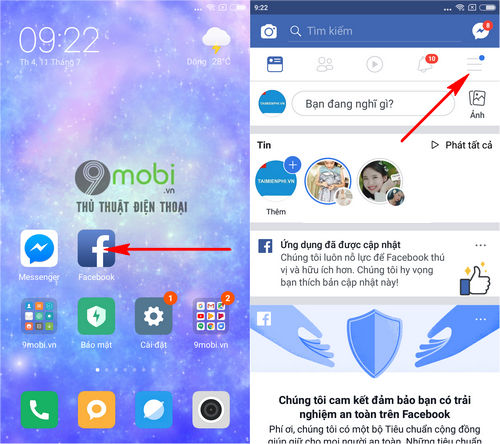 cach thoat nick facebook messenger tren dien thoai iphone android 2