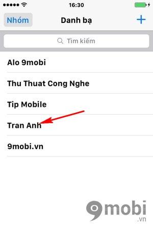 delete contact iPhone