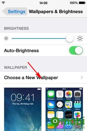 đổi hình nền cho iPhone