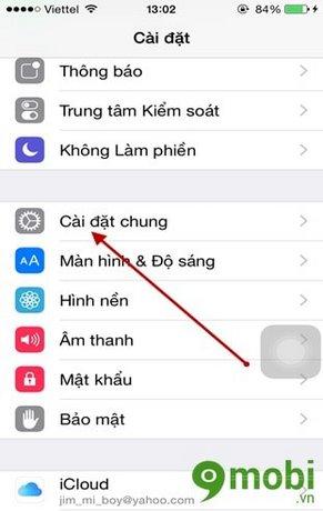 cai dat tu khoa man hinh iPhone