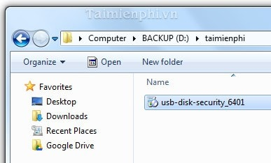 cai dat usb disk security