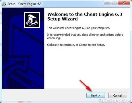 Cách cài đặt Cheat Engine 6.3