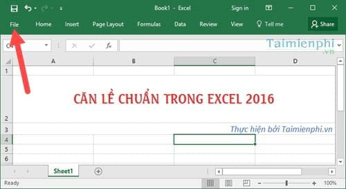 can le excel chuan can chinh le chuan trong excel 2016 2013 2010 2007 2003 2