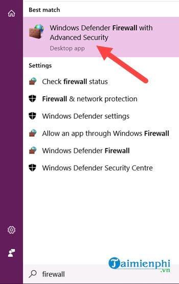 chan ung dung bang firewall trong windows 10 2