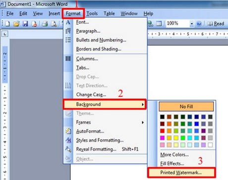 how to create a watermark on word