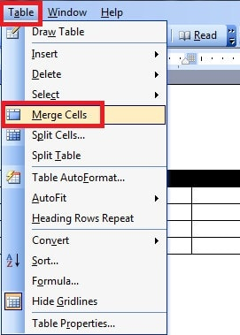 Word split and merge cells for tables and tables in word for Html table merge cells